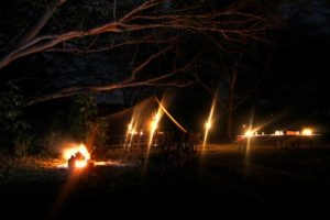 Borana Camp at night