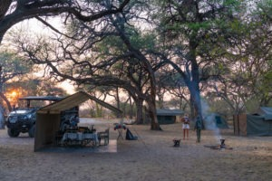 Botswana Mobile safari camp setup