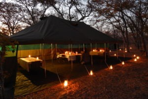 Botswana mobile safari dining