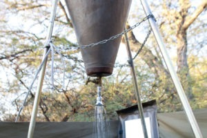 Botswana mobile safari shower ensuite