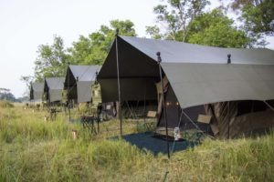Botswana mobile safari tents external