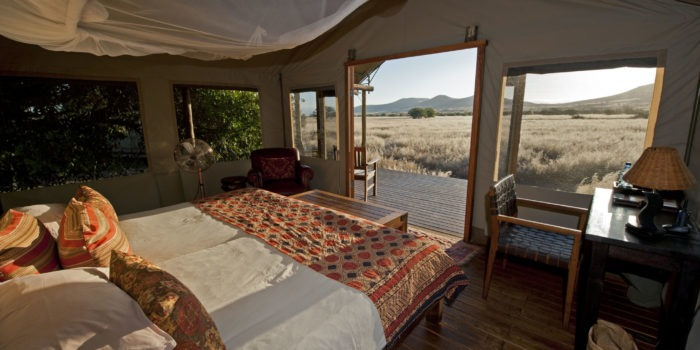 Desert Rhino Camp Luxury Tent Interior