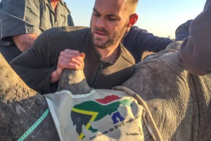 South africa conservation safari rhino notching
