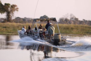 Trans Okavango boating expedition boat safari