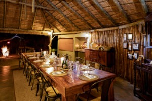 africa on foot dinner setup