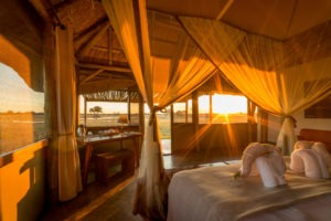 camp hwange room sunrise
