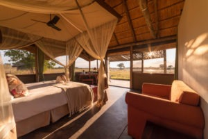 camp hwange room view