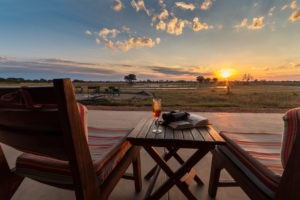 camp hwange sunset