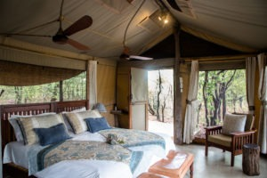 changa safari camp bedroom