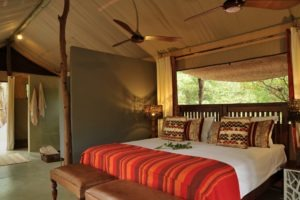 changa safari camp double bed