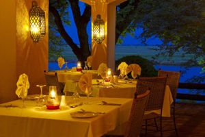 chobe game lodge dining