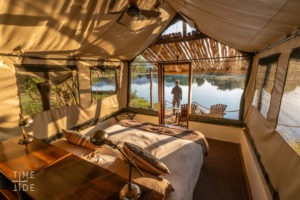 chongwe river camp tent outside view