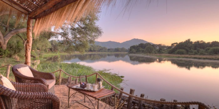 chongwe river camp veranda view