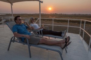 houseboat photographic safari chobe river relax on deck