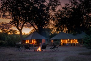 hwange bush camp main area night