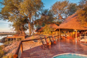 kwando lagoon camp pool