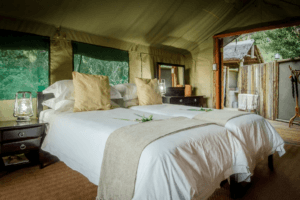 mashatu tented camp double bed