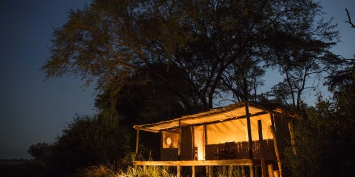 musekese kafue chalet night outside