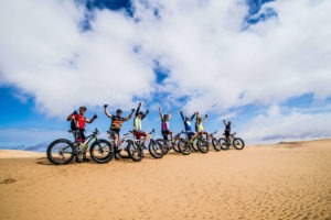 namibia fat bike group ready for adventure