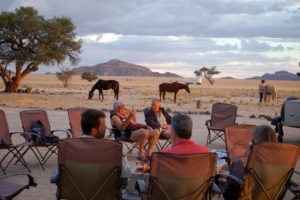 namibia horse riding sundowners with the horses