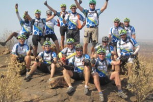 northern tuli botswana cycling safari group victory photo