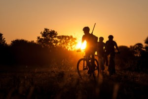 northern tuli botswana cycling safari guide sunset photo