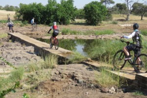 northern tuli botswana cycling safari passing water
