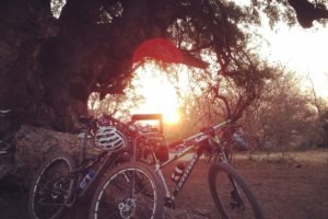 northern tuli botswana cycling safari sunset