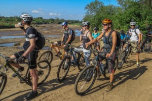 northern tuli botswana cycling safari team photo