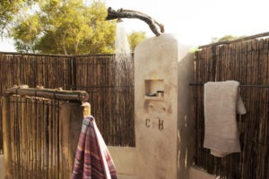 old mondoro outdoor shower