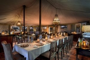 somalisa expeditions hwange dinner table