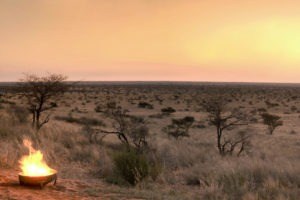 tswalu kalahari fireplace view