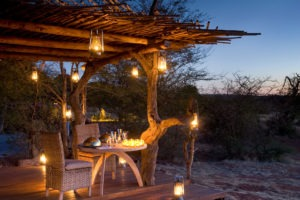tswalu kalahari romantic dinner