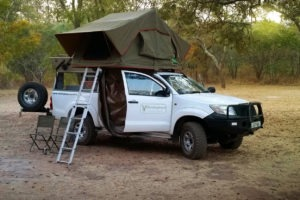 zambia self drive tent set up