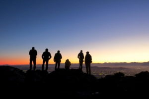 Cape Town South Africa Table Mountain Climb Sunrise