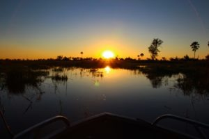 Northern Botswana Chobe River Sunset