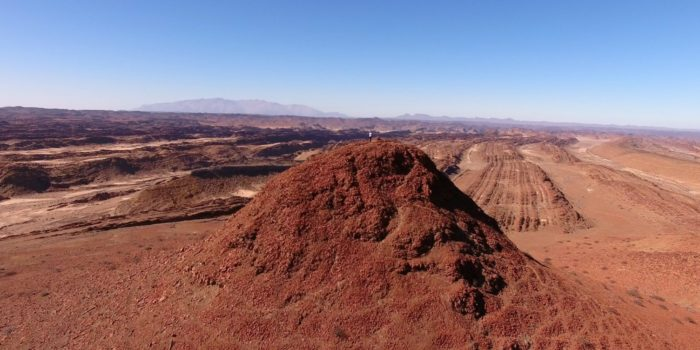 Northern namibia damaraland dessert aerial photography