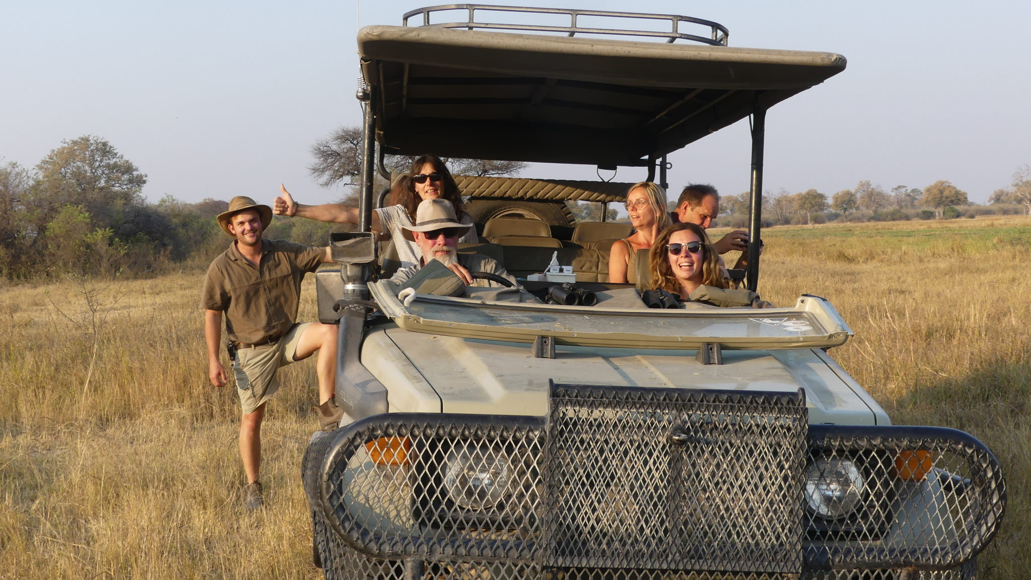 Gesa and Frank Safari Group Car
