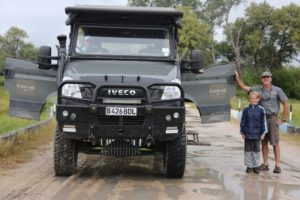 The beast iveco game viewer next to guest and guide