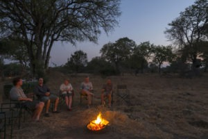 camp chitake mana pools campfire