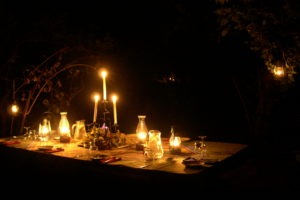 camp chitake mana pools candles