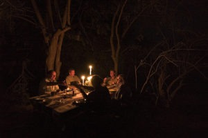 camp chitake mana pools dinner