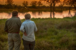 golden africa safaris guests sunset