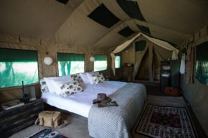 golden africa safaris tent double bed