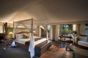 kanga camp mana pools big bed view