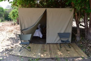 lower zambezi tusk and mane tent outside