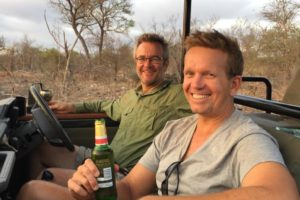 mark and tim on safari