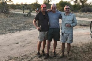 mark tim and johan on safari