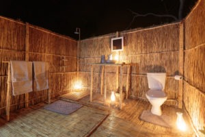 nkozi camp south luangwa outdoor bathroom