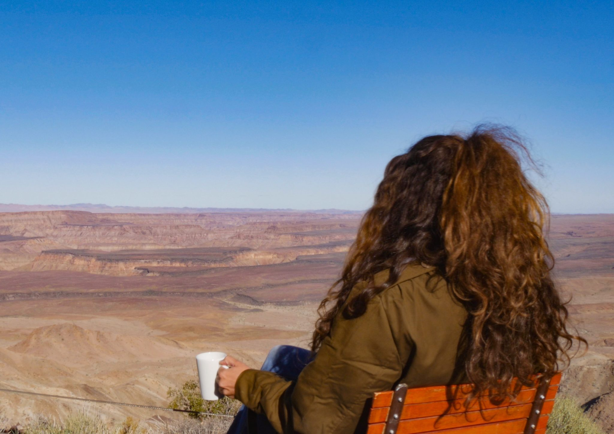 southern namibia fish river canyon gesa morning coffee with a view